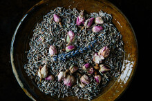 Dried Lavender And Rose Buds
