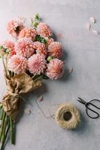 Bouquet Of Pink Dahlias