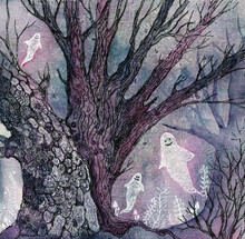 Ghosts - Halloween Art