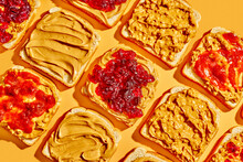 Peanut Butter And Jelly Sandwich Background