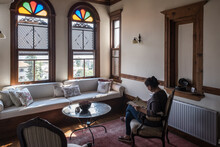 Woman Reading In Traditional Ottoman House