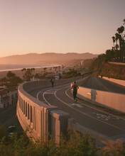 California Incline At Sunset