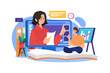 Online education training design concept