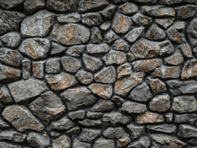 Texture Of Old Stone Brick Wall In City