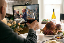 Christmas: Families Share A Socially Distanced Toast To Celebrat