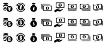通過と仮想通貨のアイコン
