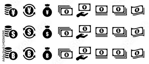 Fotografia 通過と仮想通貨のアイコン