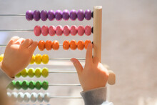 Child Counting Beads
