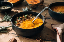Pumpkin And Red Lentils Creamy Soup