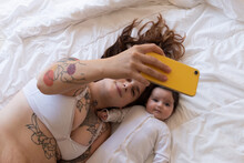 Beautiful Moments Of Joy And Happiness Of Mother And Daughter