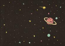 Stars And Planets Illustration