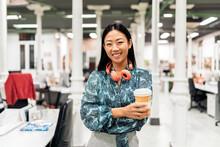Asian Woman In Office Portrait