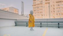 Futuristic / Cosmic Kid With White Helmet/Mask Chillin'