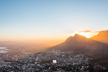 Cape Town At Dawn Seen From Lions Head
