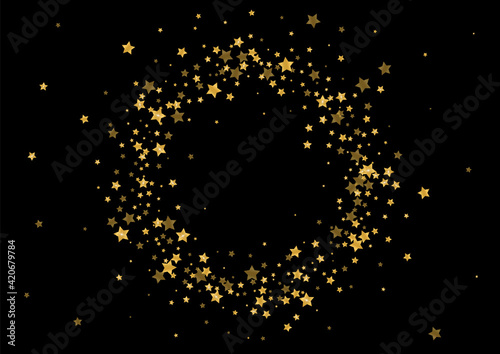 Canvas Print Golden Spatter Glitter Design