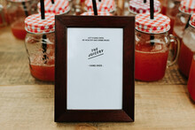 Frame For The Juicery With Drinks