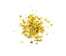 Scattered Pistachio Nut Pieces, Break Chopped Pistachios