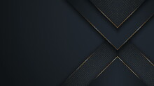 Abstract Luxury Background. Polygonal Pattern. Black And Gold Lines. Seamless Loop Computer Generated Motion Graphics. Video 3840x2160.