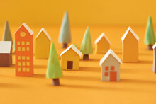Christmas Miniature Decoration For Children Room, Little Christmas Village