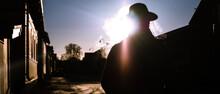 Cowboy Silouhette Winter Smoke