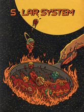 Solar System Cooking Recipe Illustration