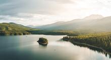 Small Kayak In Big Lake