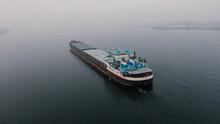 Top-view Of A Cargo Ship