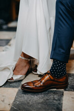 Leg Of Bride And Groom