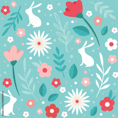 easter seamless patterns Fototapeta