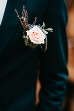 Pink Rose As A Boutonniere