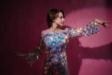 Androgynous Dancing Model Fashion Portrait