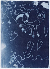 Cyanotype Of Child Drawings