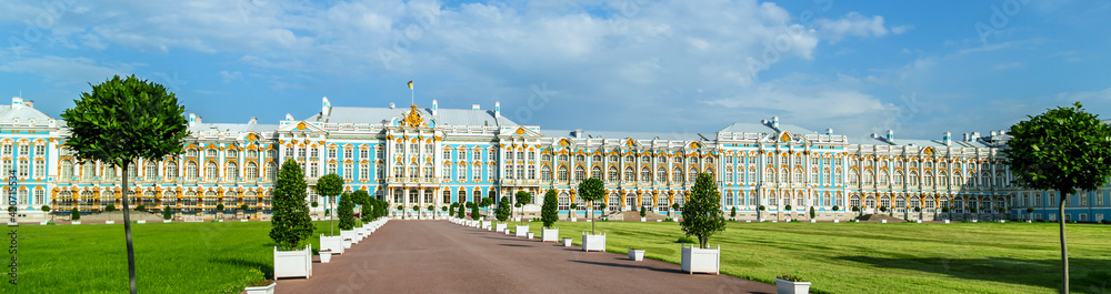 Fototapeta Catherine Palace in St. Petersburg Russia. Amber Room Tsarskoe Selo museum.