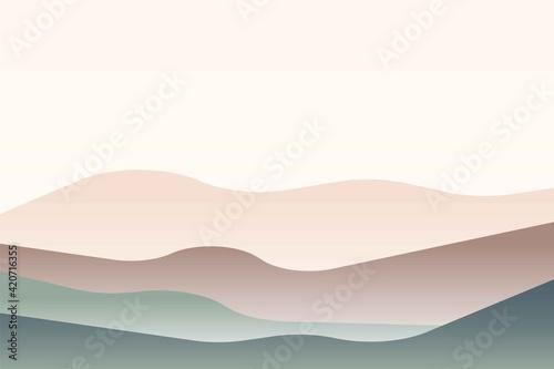Fotografie, Tablou Landscape with Japanese wave