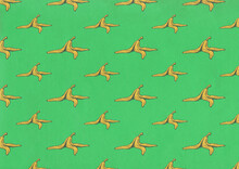 Banana Peel Pattern Illustration