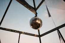 Hanging Mirror Ball Indoors