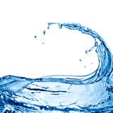 Fototapeta Łazienka - water splash isolated on white