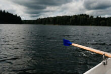 Rowing On A Lake