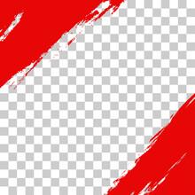 Social Media Frame Or Post Template In Grunge Style. Square Brush Border, Banner Or Poster For Story Or Sale Layout Design. Vector Illustration.