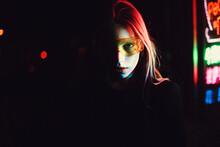 Girl In Neon Lighting