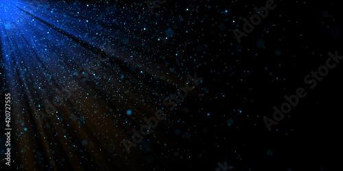 Fototapeta Light ray with dark star sky background, colorful light ray  and starlight background, stardust background. obraz