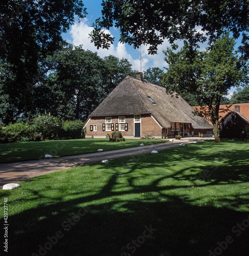 Valokuvatapetti Historic farmhouses Twente Salland Netherlands.