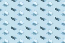 Pattern From 3D Laptops Models.