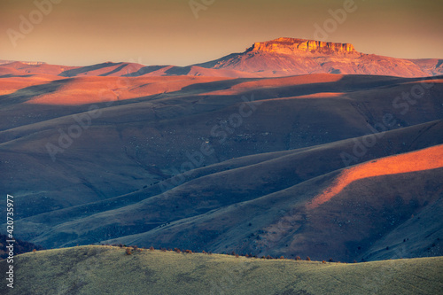 Abstract landscape with mountains