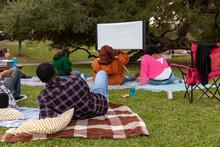 Group Enjoys A Movie