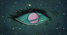 Eye With Ring Planet Instead Of Iris