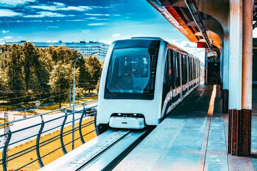 Fotografie, Obraz Monorail fast train on railway