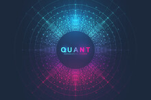 Innovative Vector Illustration For Processing Big Data Quantum Computer Technologies, Analysis And Structuring Of Information. Big Data Machine Learning Algorithms, Artificial Intelligence.