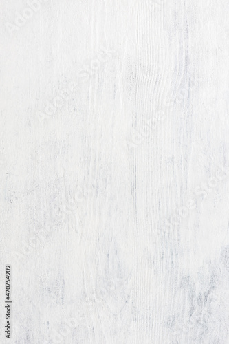 Photo White wooden shabby background.  Top view.