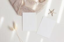 5x7 Cards Mockup  With Starfish